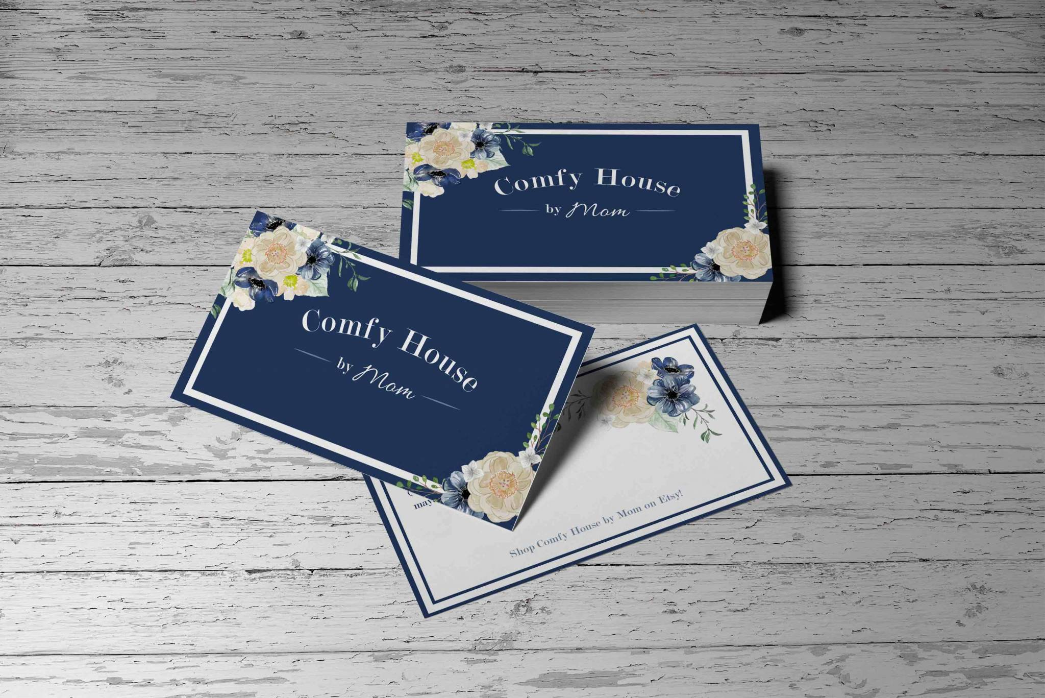 Logo and business card comfy house by mom future vintage agency colourmoves